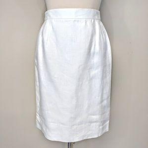 Escada Skirts - Escada Linen Pencil Skirt